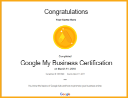 google my business certification viom institute