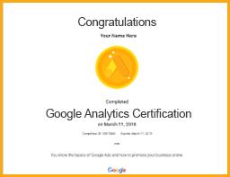 google analytics certification viom institute