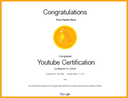 Youtube certification viom institute