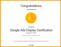 google ads display certification viom institute