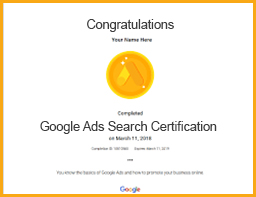 google ads search certification viom