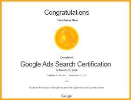 google ads search certification viom