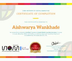 viom institute of digital marketing certification